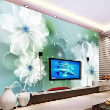 wallpaper bunga lingkaran beibehang kustom wallpaper bunga fantasi 3d lingkaran ruang ruang tv
