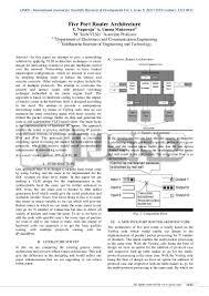 five port router architecture