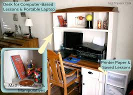 Homeschool Desk Organizing Tips When You Homeschool In A Small Home Meet Penny