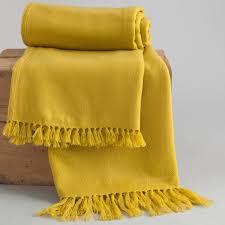 jeté de canapé jaune jeté de lit jaune printemps lit jaune jeté de lit