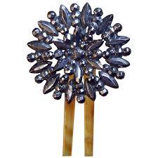 antique hair combs antique hair comb hinged cut steel flower design hair