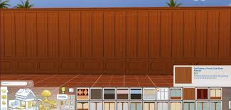 mod the sims wood panel walls