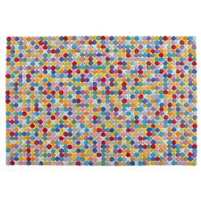 Multi Color Rug Multi Colored Polka Dot Wool Rug The Land Of Nod