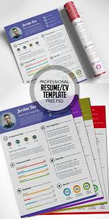 Free Graphic Resume Templates 17 Free Clean Modern Cv Resume Templates Psd Freebies