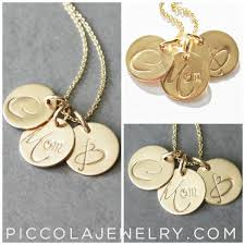 Mothers Necklace With Initials Initial Necklace Canada Gold Modern Mom Disk Necklace Piccola