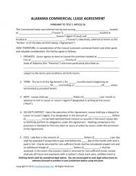 download alabama commercial lease agreement template pdf rtf
