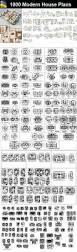 1000 modern house autocad plan collection u2013 cad design free cad
