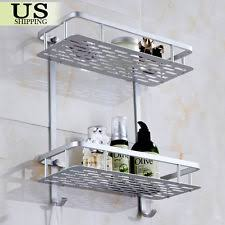 Bathroom Shower Shampoo Holder 2 Tier Corner Shelf Wall Mounted Bathroom Shower Caddy Soap