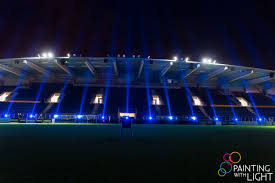 Arena Lights Painting With Light Case Kv Ostend Stadium Lighting
