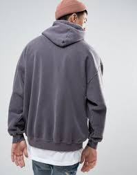 mychicpicks reclaimed vintage inspired oversized hoodie in grey
