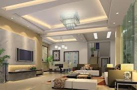 False Ceiling Design Small Apartment Room Interior Flat Screen - Design modern living room