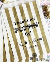 custom favor bags personalized wedding favor bags thanks for poppin by bakers bling