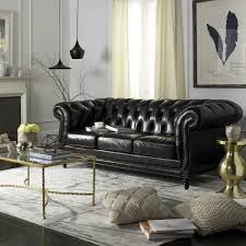 Classic Tufted Sofa Classic Tufted Leather Nailhead Sofa Safavieh Com