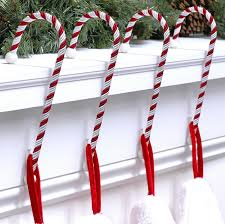 amazon com haute decor cc0402r candy cane stocking holder 4 pack
