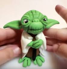yoda cake topper wars tutorials cakecentral