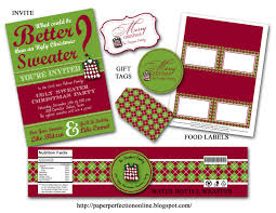 christmas cookie party invitations paper perfection november 2011