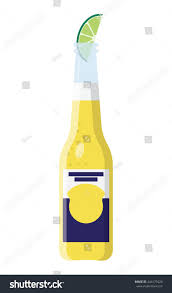 cartoon beer bottle beer bottle slice lime clip art stock vector 444175420 shutterstock