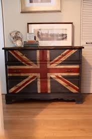 painting a union jack british flag on a dresser tutorial megmade
