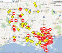louisiana highway map maps of roads closed in louisiana due to hurricane isaac