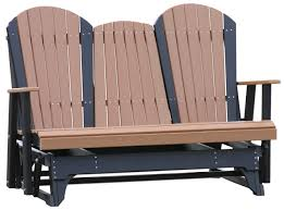 Outdoor Furniture Sarasota 5 U2032 Adirondack Glider Polywood Dutch Haus Custom Furniture