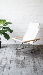 Rocking Chair And A Half Object Of Desire A Folding Canvas Rocking Chair From Japan