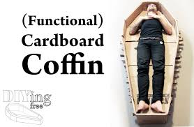 cardboard coffin how to make a coffin out of cardboard diying free