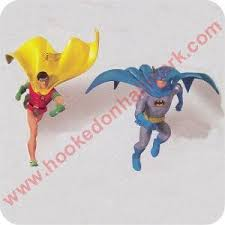 1999 miniature classic batman and robin hallmark ornament