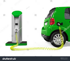 electric vehicles charging stations electric vehicle charging station 3d rendering stock illustration