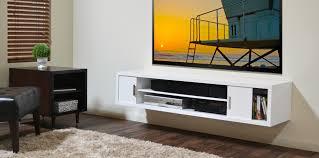 wall mounted tv shelves white