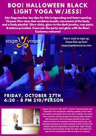 black light yoga october 2 sage yoga damascus