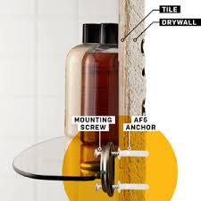 on a shelf how to mount a shelf on a tile wall