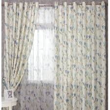 blue flowers jacquard country style blackout curtains buy blue