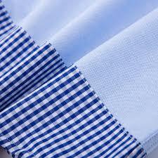 corn flower blue gingham detail sleeve shirt cornflower blue kidscrafter