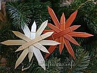 illustrated craft tutorial straw ornaments for the