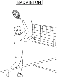 best racquet sport badminton coloring pages kids aim