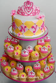 cupcake birthday cake princess cupcake tower created for a 1st birthday party all