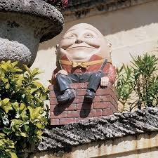 shop design toscano humpty dumpty 19 in garden statue at lowes