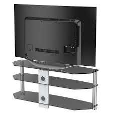 Shelves For Tv by Fitueyes Black Tempered Glass Metal Corner Flat Screen Tv Stand