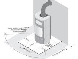 pelletofen fã r wohnzimmer notwendige abstände beim aufstellen eines kaminofen