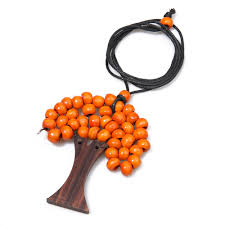 orange beaded necklace images Long wooden bead necklace wooden beads necklaces online 30 off jpg