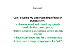 yr 5 6 speech punctuation by matthewgreg teaching resources tes