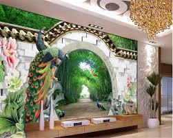Bambus Garten Design Online Kaufen Großhandel 3d Fr U0026uuml Hjahr Tapete Aus China 3d