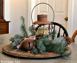 christmas table centerpiece a wintery rustic christmas centerpiece