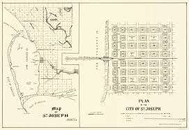 Joseph Oregon Map by Old City Map St Joseph Florida Planning 1837