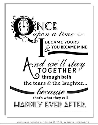 after marriage quotes happily after quote print for newlyweds just married