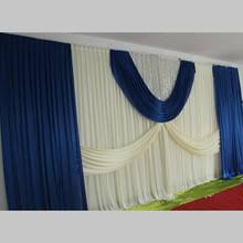 Curtains Wedding Decoration Popular Blue Stage Curtains Buy Cheap Blue Stage Curtains Lots