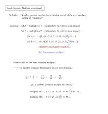 math plane greatest common factor gcf u0026 least common multiple