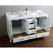 Buy Vincent  Inch Solid Wood Double Bathroom Vanity In White HM - Bathroom wood vanities solid wood