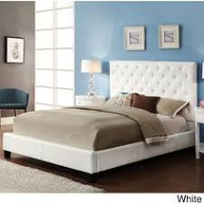 White Cushioned Headboard by B