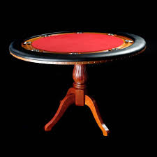 real wood round poker table